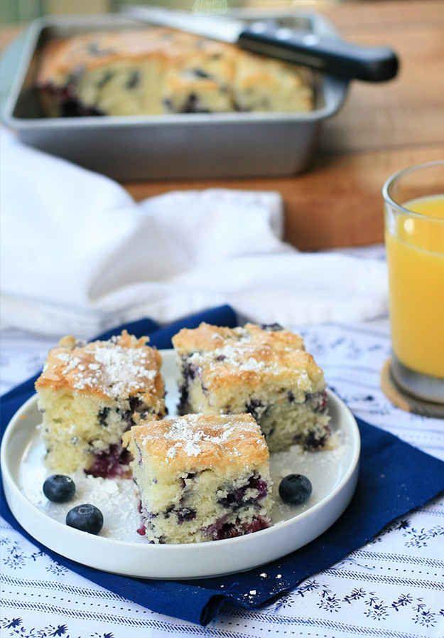 Gluten-Free Blueberry Buttermilk Breakfast Cake   27 Delicious Gluten-Free Breakfast Pastries