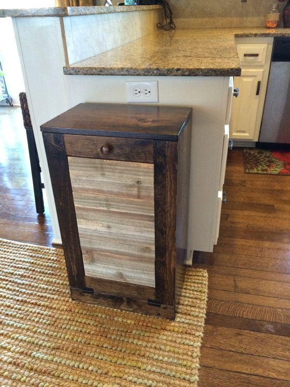 19 best wooden tilt out trash cans images on Pinterest | Trash ...