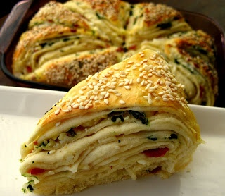 Home Cooking In Montana: Spinach and Feta Layered Turkish Bread (Borek)...