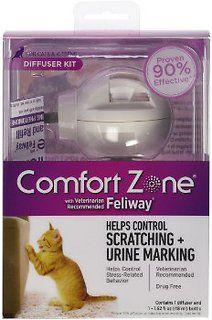 Comfort Zone with Feliway Cat Diffuser, 48-ml