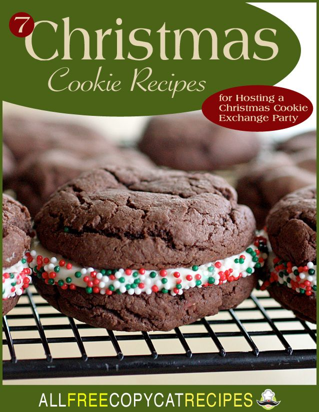 """""""7 Christmas Cookie Recipes for Hosting a Christmas Cookie Exchange Party"""" eCookbook"""