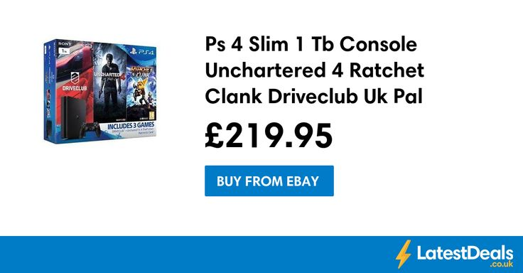 Ps 4 Slim 1 Tb Console Unchartered 4 Ratchet Clank Driveclub Uk Pal, £219.95 at ebay