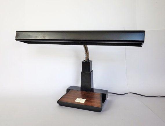 Lampe de bureau industrielle de col de cygne mi lumière métal