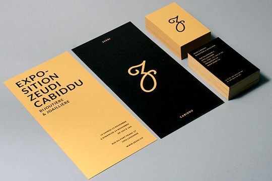 Logo redesign and grafic concept for the business cards of the Jewelry designer, Zeubi Cabiddu.Support: Logo's redesign, business card & invitation cardClient: Zeudi Cabiddu, VD / Suisse