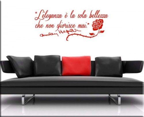 adesivo murale frase Audrey Hepburn