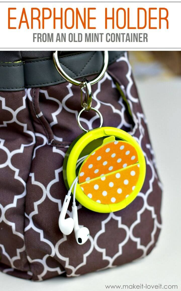 15 Diy Earbud Holder Ideas To Easily Hold Your Earphones Earbud