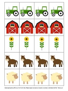 Ten different pictures, use to create patterns, writing rebus sentences, playing a game, etc. Corresponds with my Farm Bingo and Farm Fun in PreK, for even more fun! If you like this freebie, please come back to leave me some feedback! Thank you and enjoy!  {Goose revised on October 15, 2012}   super cute graphics by http://mareetruelove.blogspot.com/