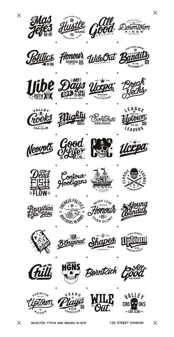 Recent selected types and images in B/W pt.5 on Behance