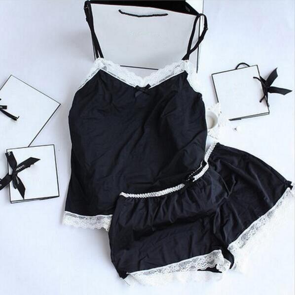 여성 잠옷 섹시한 레이스 실크 잠옷 세트 란제리 여성 블랙 스트랩 Pijama 여성 목욕 가운 잠옷 파자마 정장