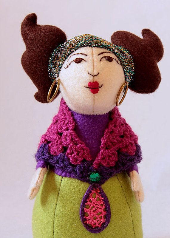 Circus Fortune Teller    Gypsy Plushie Doll por GingerbreadCircus