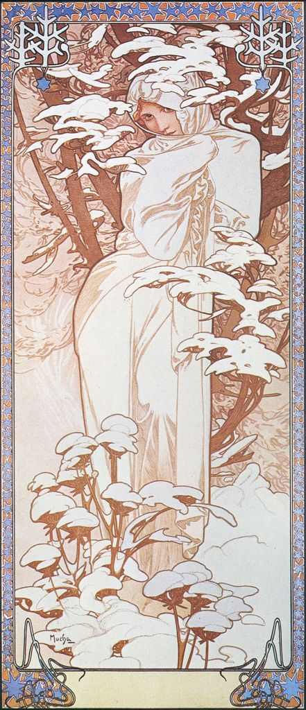 Alphonse Mucha - P51 Hiver/Winter, c.1903. | by K.G.23