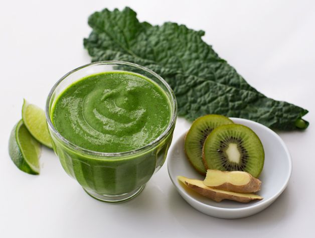 """Consider two of the ultimate """"detox"""" foods, kale and cilantro combined to cleanse your system! The avocado lends a rich, creamy consistency and a healthful dose of """"good"""" monounsaturated fat."""