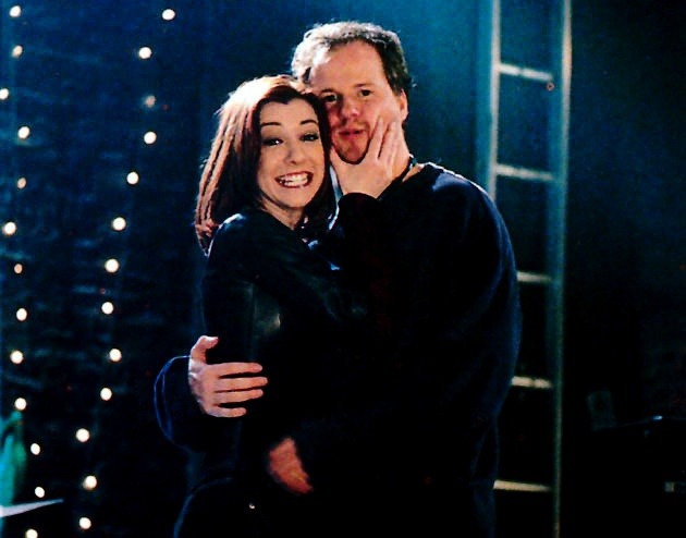 Alyson Hannigan aka Willow from Buffy, and Joss Whedon, the creator. So cute<3