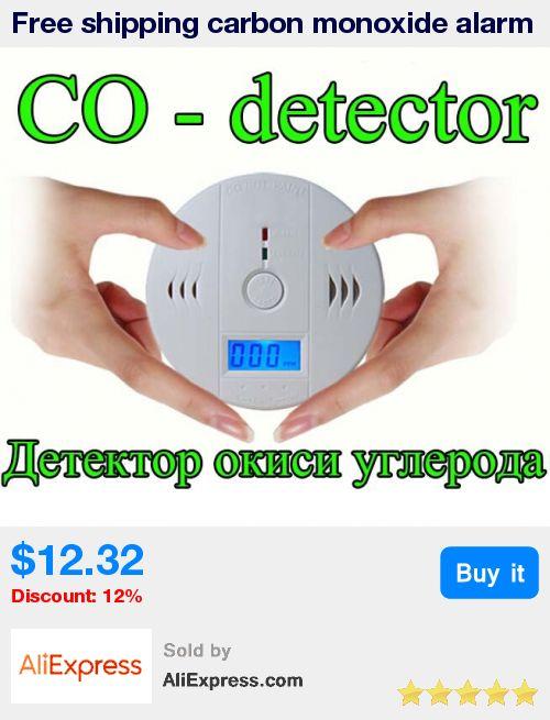 Free shipping carbon monoxide alarm detector/household coal gas alarming device/carbon monoxide poisoning prevention/smoke alarm * Pub Date: 00:23 Apr 13 2017