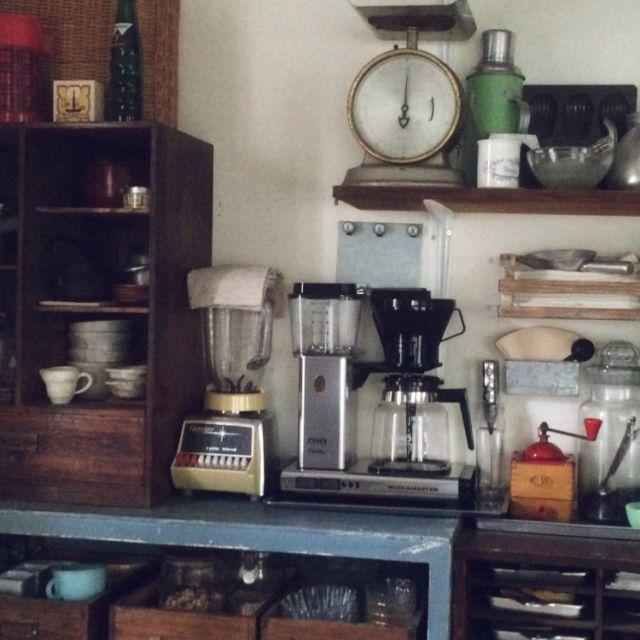 アンティーク/懐かしい風景/コーヒーメーカー/リメイク/男前/収納…などのインテリア実例 - 2014-10-20 15:03:58   RoomClip(ルームクリップ)