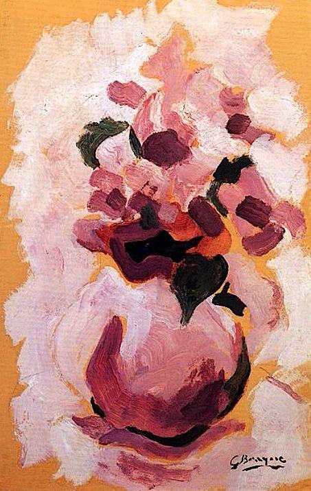 Georges BRAQUE ( French, 1882 - 1963 ) «Vase de fleurs» Nach einer frühen fauvistischen Schaffensphase war Braque zusammen mit Pablo Picasso der Mitbegründer des Kubismus.