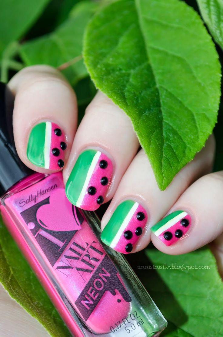 Neon Watermelon | annatnails #nail #nails #nailart