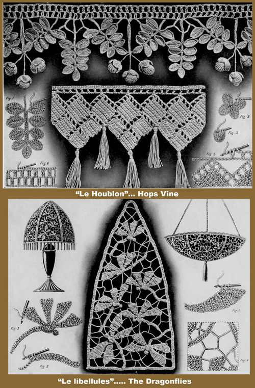 Iva Rose Vintage Reproductions - Gros Crochet pour Ameublement #2 c.1927 - Fancy Decorative Crochet (in French)