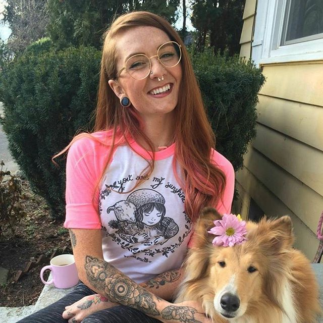 """The gorgeous @cedarsummer, & her besty Daisy, showing her support to @boochaces Rancho Relaxo wearing our @albaparis """"You Are My Sunshine"""" baseball tee ONLY available at AlbaParisArt.com Worldwide 🌏 Shipping  10% of our proceeds are donated to @boochaces Rancho Relaxo Rescue Farm in NJ USA  #albaparis #albaparisart"""