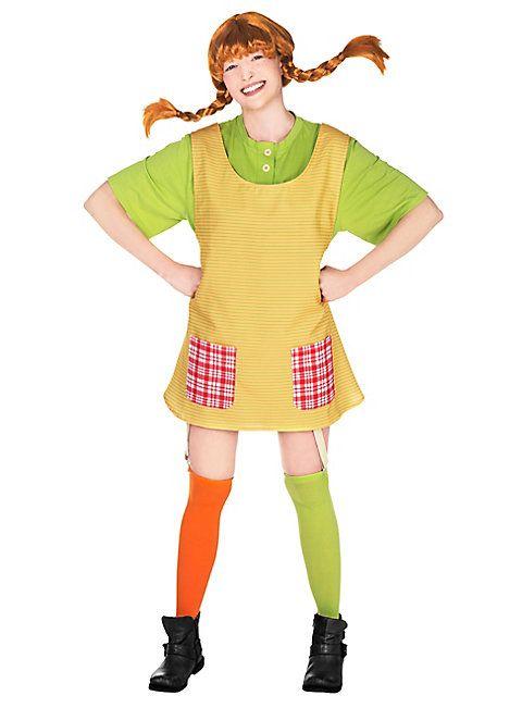 Pippi Langstrumpf Kostüm Damen von maskworld.com #fasching #karneval #astridlindgren #pippilongstocking