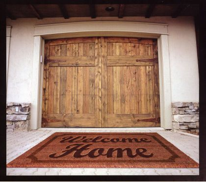15 best images about rustic wood doors on pinterest wood for Rustic wood garage doors