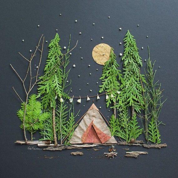 love this landscape diorama idea for kids | kids crafts | art for kids | outdoor art