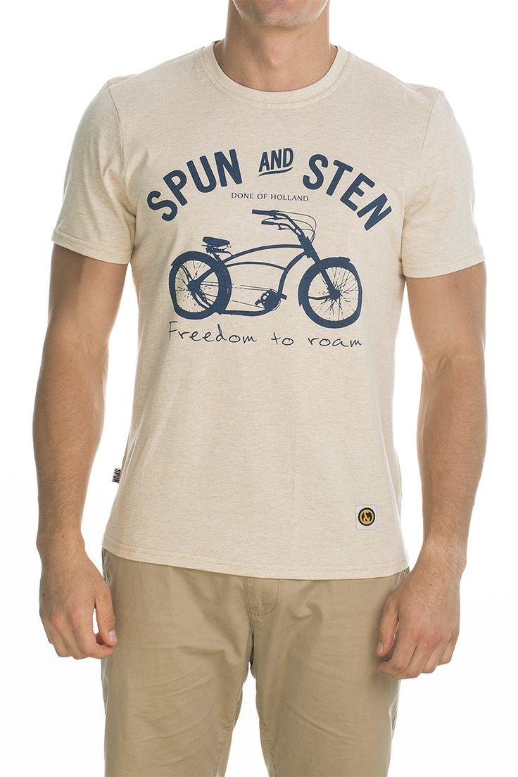 T-shirt Basman; beige.