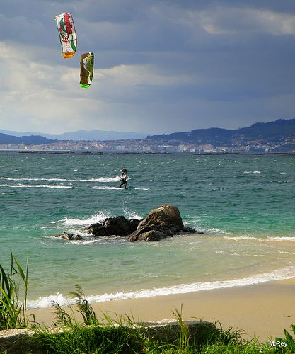 kitesurf in Galicia #kitesurfing #kiteboarding #spain #galicia