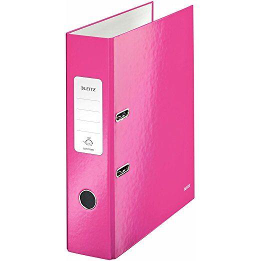 Leitz 10050023 Wow Ordner Standard (Schlitzen, A4, breit) pink metallic
