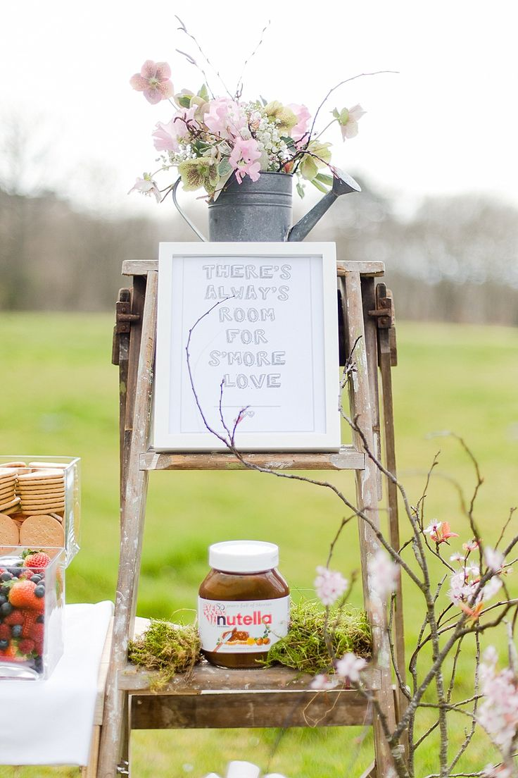 There's always room for SMORE love.  Wedding Catering Ideas: The Street Stalls Collection by Kalm Kitchen http://www.kalmkitchen.co.uk/.  Photographed by http://eddiejuddphotography.com/