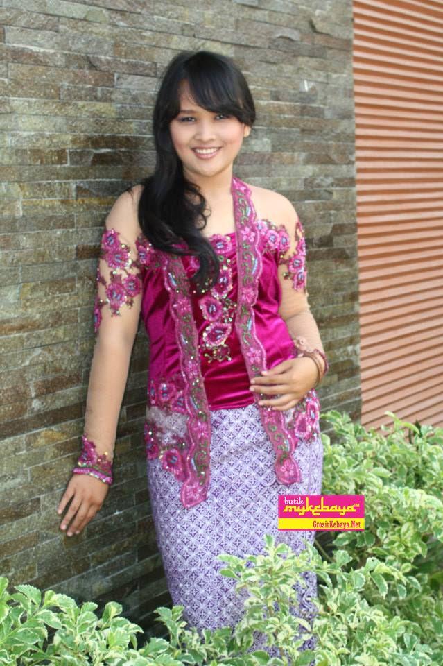 Model Kebaya Modern Simple, Kebaya Modern Ungu, Baju Kebaya Modern