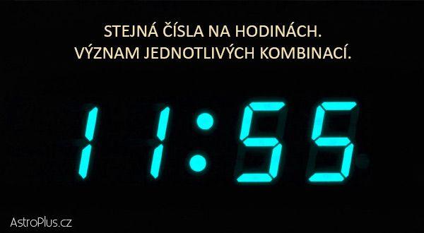 Stejná čísla na hodinách — význam jednotlivých kombinací   ProNáladu.cz