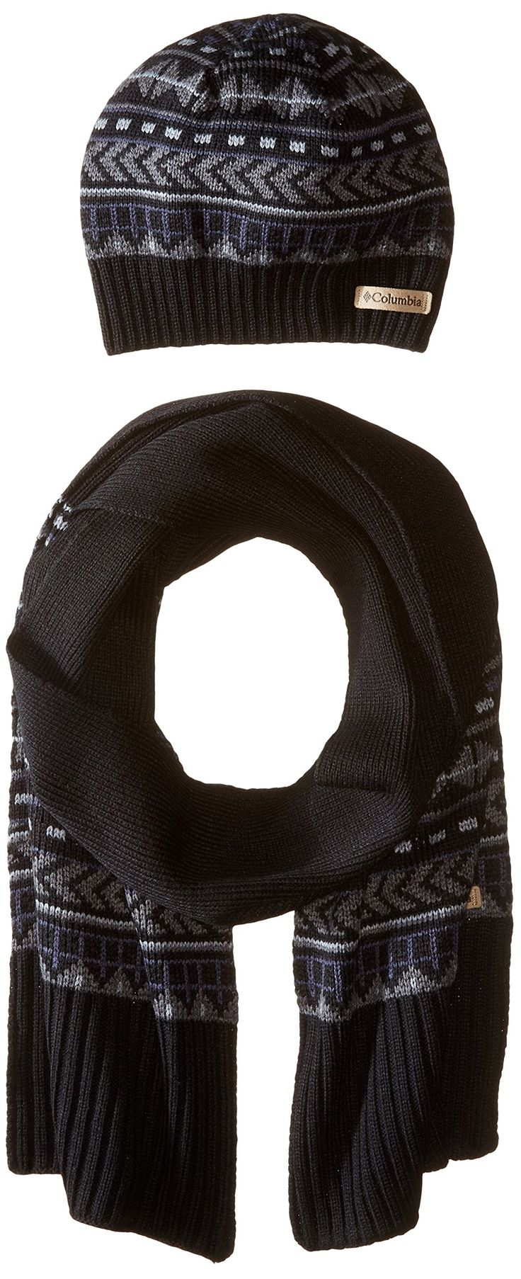 Columbia Women's Winter Worn Hat and Scarf Set, Black, One Size