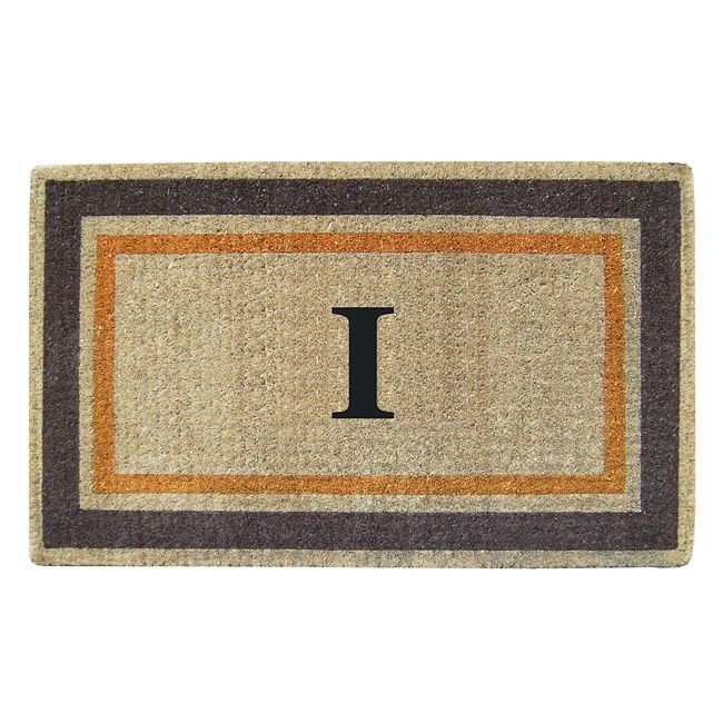 Enterprises Handmade Monogrammed Double Picture Frame Orange Door Mat