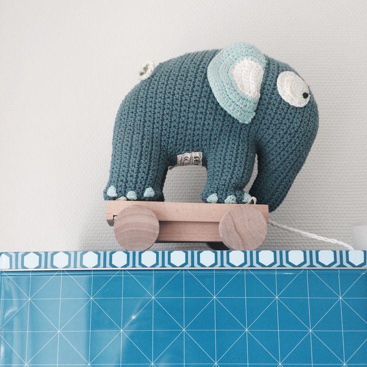 Elefant, Sebra, vintage, Childrens room