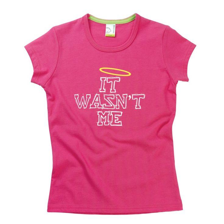 It Wasn't Me Kids T-Shirt by Hairy Baby