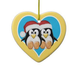 Christmas Penguins Christmas Ornaments