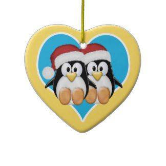 Christmas Penguins Christmas Ornaments