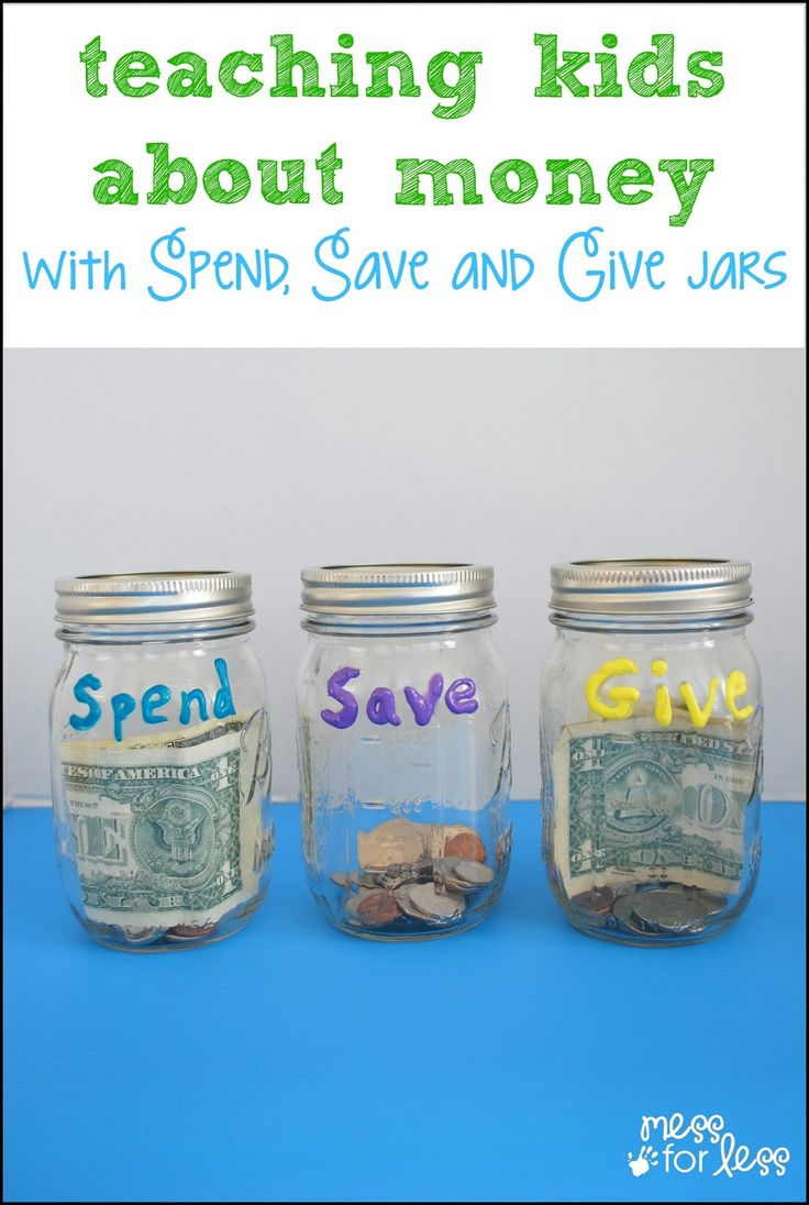 Teaching Kids About Money with Spend, Save, Give Jars - A simple and fun way to help kids learn to manage money