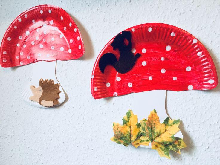 Pappteller mit Kindern zu einem Pilz verarbeiten | Der Familienblog für …