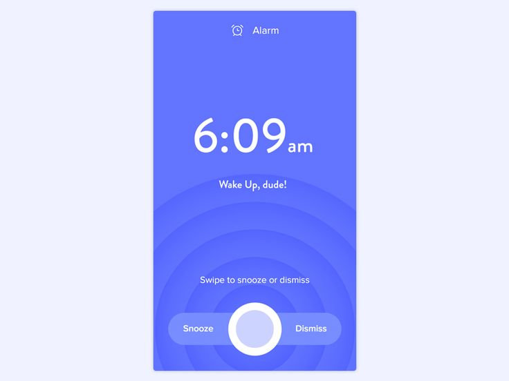 Alarm Screen