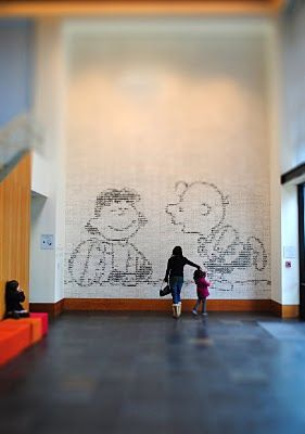 Charles M Schulz museum in Santa Rosa, CA. Pretty much here every week of the winter for Toddler Time/Snoopy School.