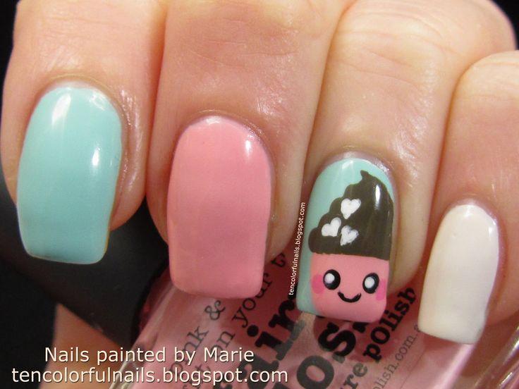 the 25+ best cupcake nail art ideas on pinterest | cute kids nails