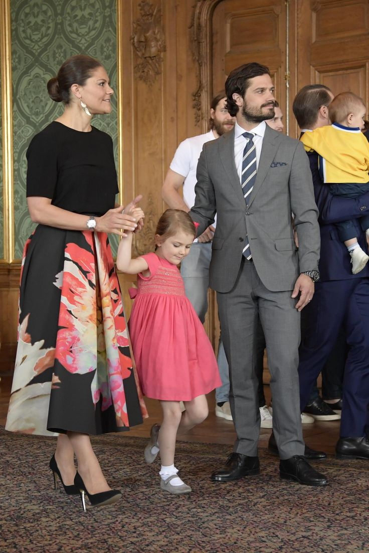 Crown Princess Victoria, Princess Estelle, Prince Daniel, Prince Oscar and Prince Carl Philip met with the Swedish national ice hockey team at the Royal Palace in Stockholm, Sweden. Sweden beat Canada in Sunday final of the World ice hockey Championships in Germany.