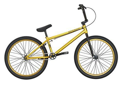 "DK Bikes DK Cygnus 24"" Complete BMX Bike Gold"