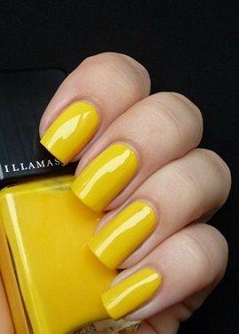 余計な飾りはつけないベタも素敵♡1.5次会・二次会・披露宴・前撮りの参考にしたい黄色ネイル一覧♡