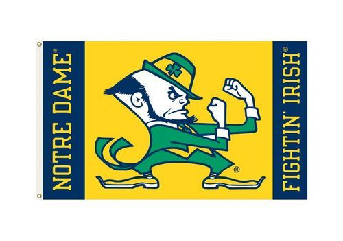 Notre Dame Fighting Irish Flag 3x5 Leprechaun