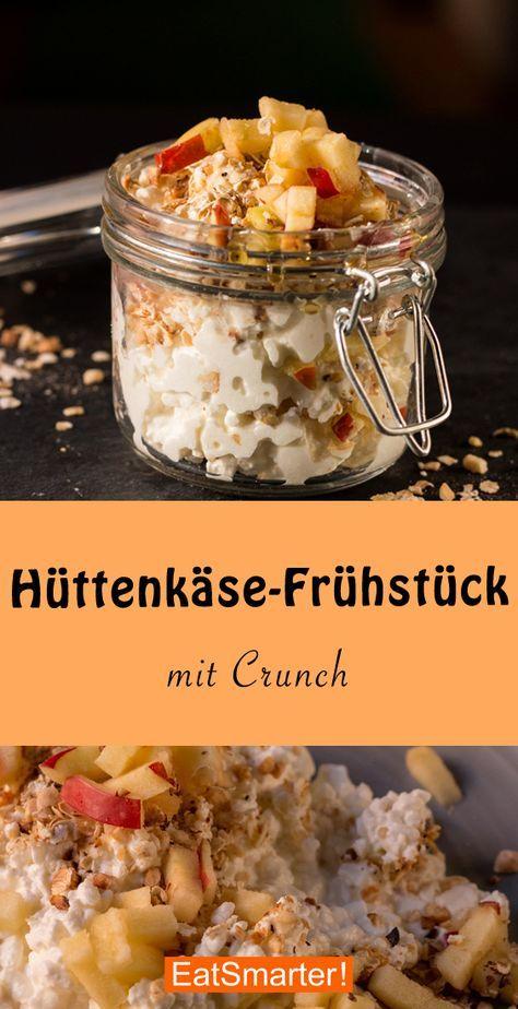 Hüttenkäse-Frühstück mit Crunch