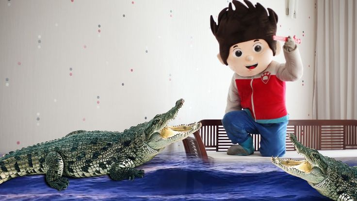 PAW Patrol Full Episodes Superheroes - PAW Patrol Ryder GIANT Crocodile ...