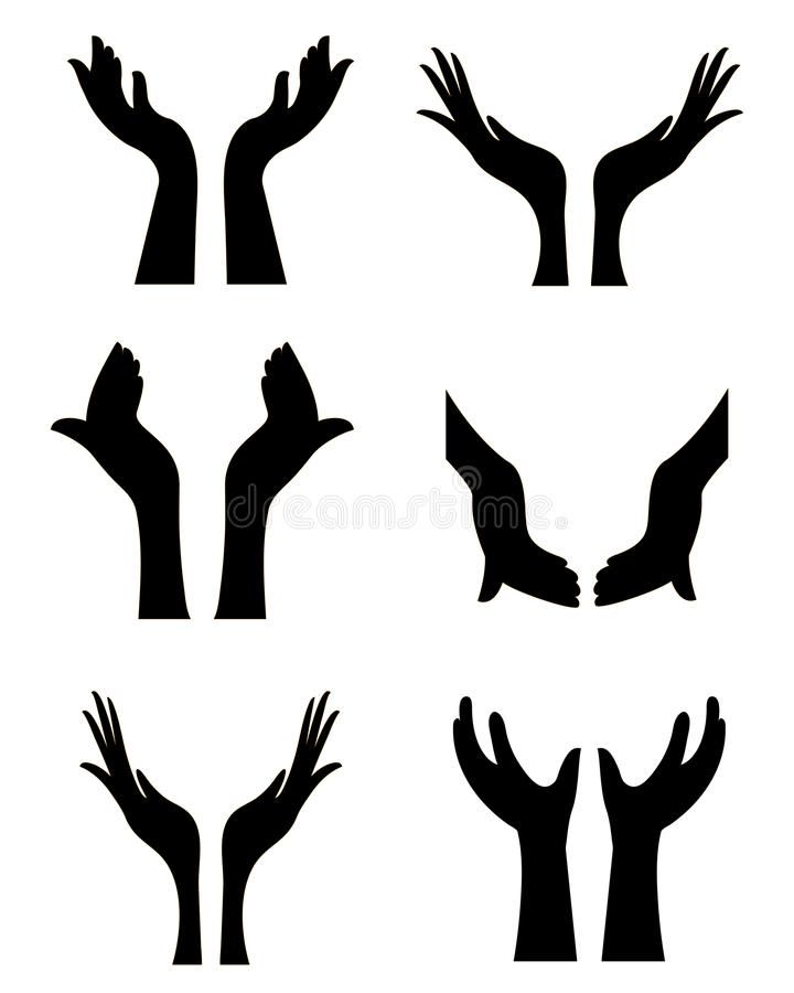 Open Hands Collection Of Six Open Hands Silhouettes For Your Designs Aff Collection Hands Hand Silhouette Free Clipart Images Silhouette Illustration